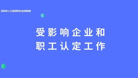 (广东省)受影响企业认定补贴